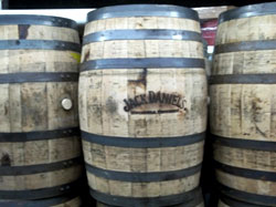 Used Jack Daniel's Brand Whiskey Barrels