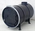 30 Gallon Carbon Barrel Stove